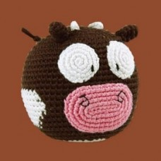 Cow Roly Poly Rattle Ball